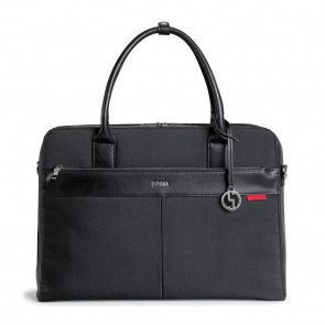 SOCHA Businessbag Casual Black 17.3 inch Voorkant