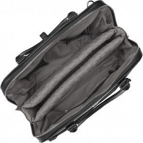 SOCHA Dames Laptoptas 15.6 inch Couture V Zwart Binnenkant