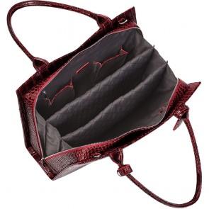 SOCHA Dames Laptoptas 15.6 inch Croco Burgundy Rood Binnenkant