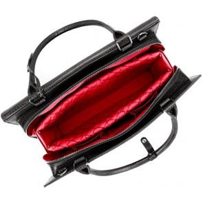 SOCHA Dames Laptoptas 15.6 inch Silver Tip Croco Black Open