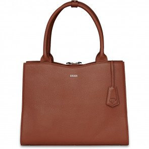 SOCHA Leren Dames Laptoptas 14 inch Diamond Edition Cognac Voorkant