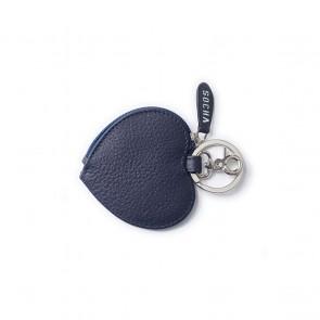 SOCHA Leren Dames Portemonnee Diamond Edition Hart Blauw