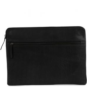 Still Nordic Leren Laptop Sleeve 15 inch Clean Zwart Voorkant
