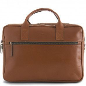 Still Nordic Leren Laptoptas 15 inch Clean Brief 2 Room Cognac Voorkant