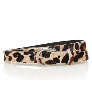 Take-It 25495 Dames Leren Fashion Riem 95/2,5 Cm Panter Vacht