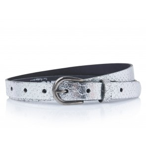 Take-It 414 Dames Leren Fashion Riem 95/2 Cm Silver Metallic