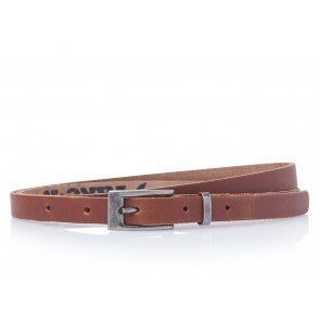 Take-It 435 Dames Leren Fashion Riem 95/1,5 Cm Cognac