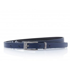 Take-It 435 Dames Leren Fashion Riem 95/1,5 Cm Navy-Blauw