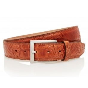 Take-It 510 Croco Print Dames Volnerf Leren Fashion Riem 105/3,5 Cm Cognac