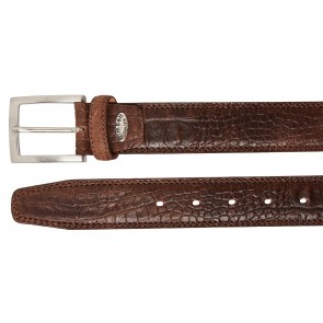 Take-It 510 Croco Print Dames Volnerf Leren Fashion Riem 105/3,5 Cm Dark-Brown Afb 2