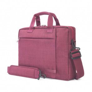 Tucano Svolta Medium Slim Laptoptas 13-14 inch Bordeaux schuin voorkant