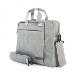 Tucano Svolta Medium Slim Laptoptas 13-14 inch Grey schuin voorkant