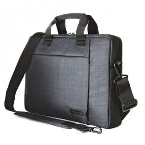 Tucano Svolta Slim Laptoptas 11 inch Black schuin voorkant