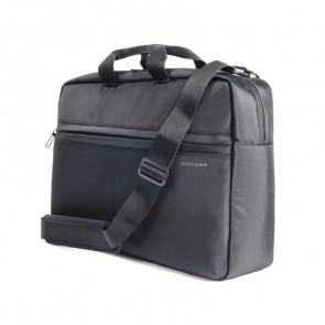 Tucano Tratto Large Laptoptas 17 inch Black schuin voorkant