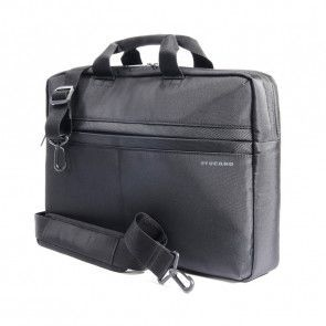 Tucano Tratto Medium Laptoptas 15 inch Black schuin voorkant