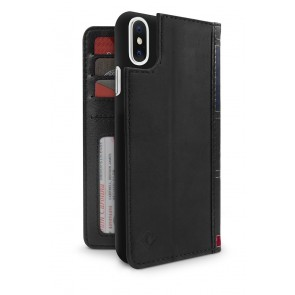 Twelve South BookBook iPhone X / XS Case Wallet Black Achterkant