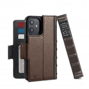 Twelve South BookBook iPhone 12 & iPhone 12 Pro Case Wallet Bruin