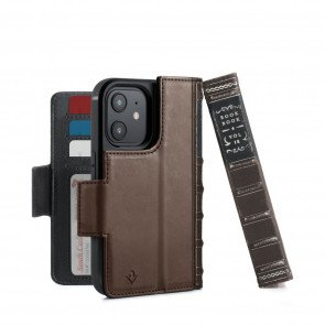 Twelve South BookBook iPhone 12 mini Case Wallet Bruin