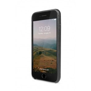 Twelve South Relaxed Leather Case Pockets iPhone 8/7 Black Voorkant