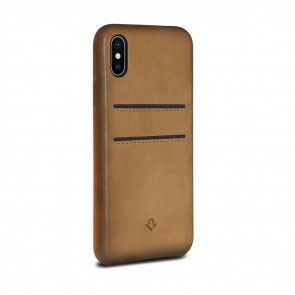 Twelve South Relaxed Leather Case Pockets iPhone X / XS Cognac Achterkant