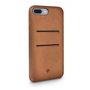 Twelve South Relaxed Leather Case Pockets iPhone 8 Plus / 7 Plus Cognac Achterkant