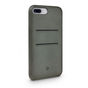 Twelve South Relaxed Leather Case Pockets iPhone 8 Plus / 7 Plus Dried Herb Achterkant