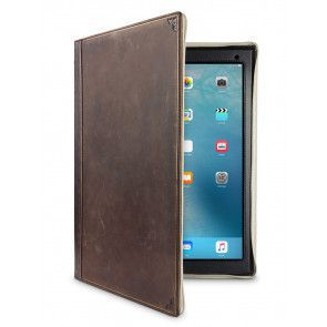 Twelve South BookBook iPad Pro 12.9 V2 Case Vintage Brown voorkant open