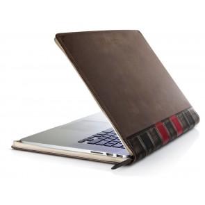 Twelve South BookBook MacBook Pro Retina Vintage Leather Case 15 inch Half Open Zijkant