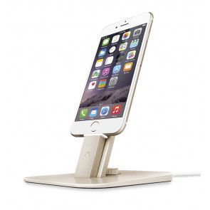 Twelve South HiRise Deluxe Gold for iPhone and iPad met iPhone